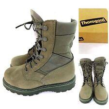 THOROGOOD USAF SAGE GREEN HOT WEATHER STEEL TOE COMBAT BOOTS VIBRAM SOLES SZ 5XW