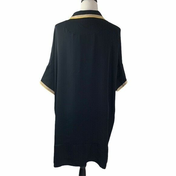Rag and Bone Dana Silk Tunic Size 0 Black - image 6