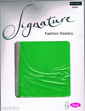 NEON GREEN 70 DENIER OPAQUE TIGHTS from SILKY medium NEW GREAT QUALITY