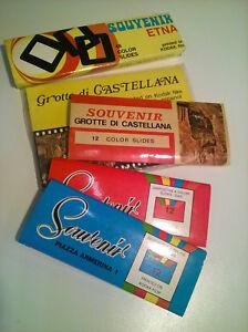 LOTTO-96-COLOR-SLIDES-VINTAGE-SOUVENIR-KODAK-FILM-ETNA-CASTELLANA-P-ZZA-ARMERINA