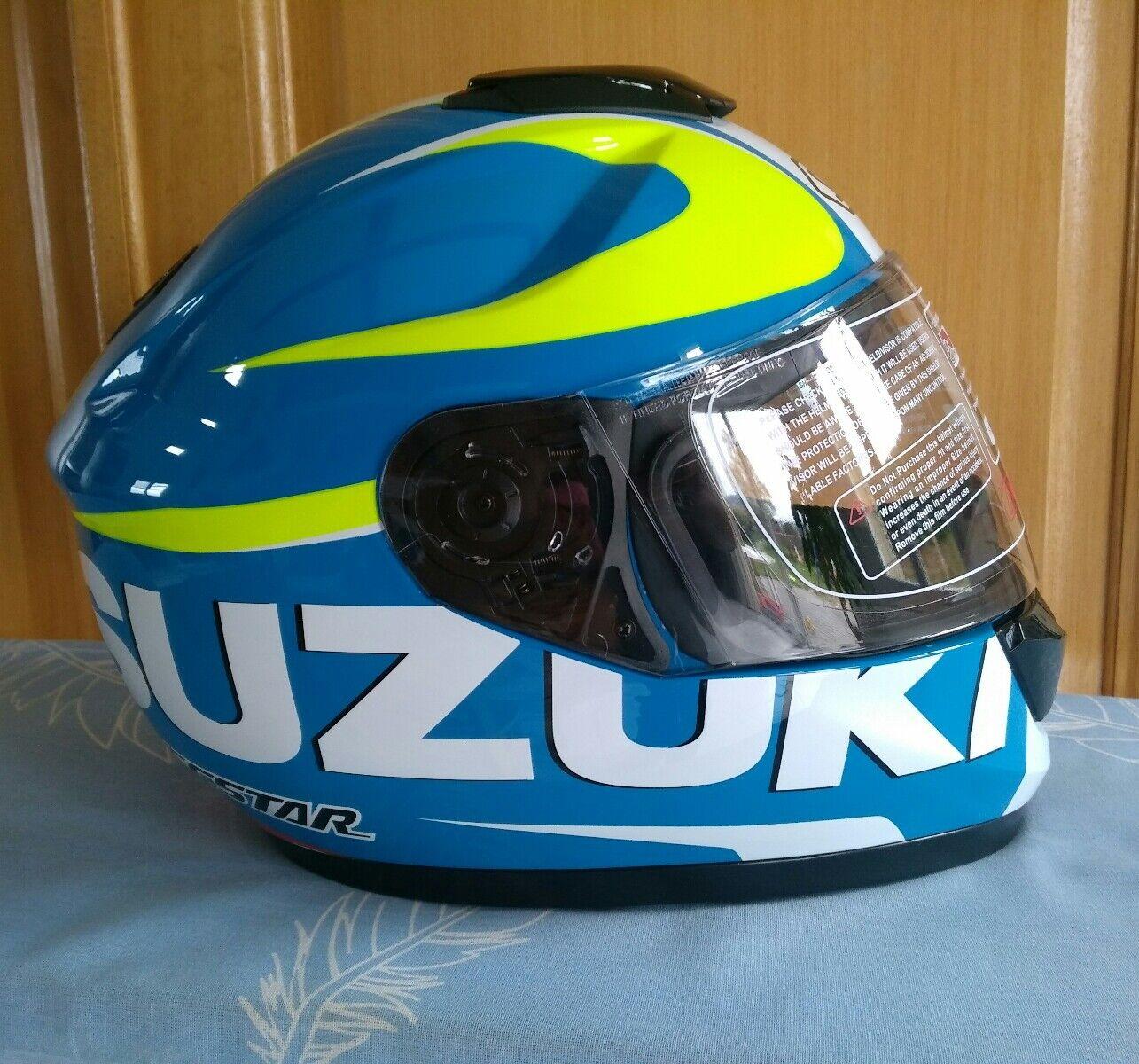 Casque Moto Integral Suzuki Xl Gsxr Gsxf 125 600 750 1000 Gsr Neuf