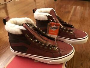 548fb97c7e New Vans SK8-Hi 46 MTE DX Women s Size 6.5 Burgundy Marshmallow