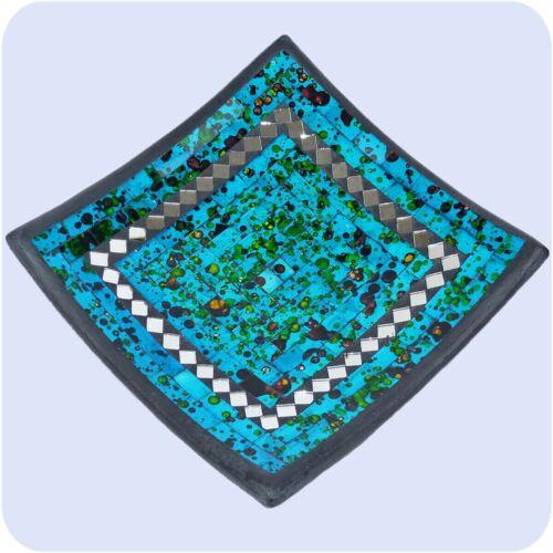 Mosaikschale Tonschale Glasschale Schale Mosaik Kunst Deko Quadrat Spiegel groß