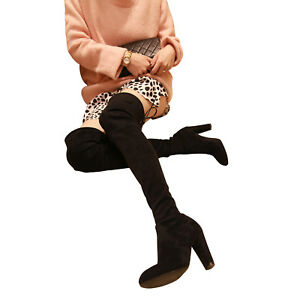 bc2e99133d9 Kaitlyn Pan Microsuede High Heel Slim Fit Over The Knee Thigh High ...