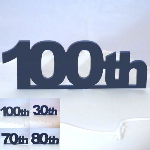 Celebration Number Cake Topper Black Acrylic  (choose from numbers 71 to 80)