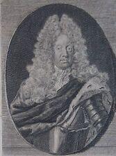 ANTHONIUS EGON, Portrait, gravure 18 ème. Dimensions : 90 mm X 140 mm.