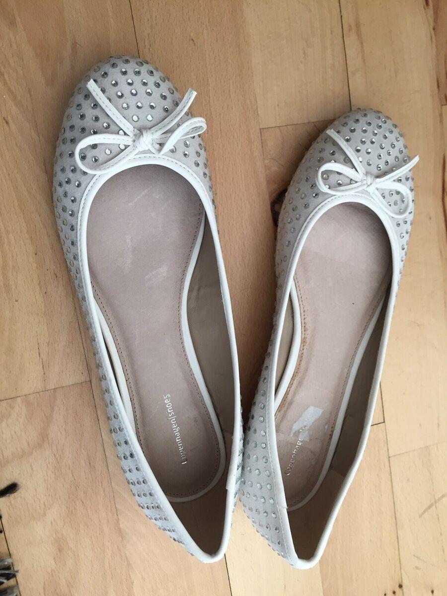 Ballerinasko, str. 41, Copenhagen shoes, Næsten som ny
