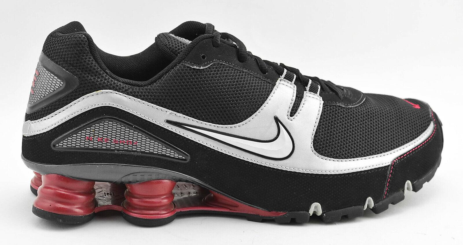 NIKE 2007 SHOX  TURBO PLUS V RUNNING scarpe Dimensione 11.5 nero SIVLER ROSSO 316872 011  vieni a scegliere il tuo stile sportivo