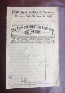 Antique-Invoice-Receipt-J-Sear-s-amp-Co-Ltd-Dublin-Destroyed-1916-Rising