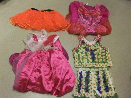GIRLS FANCY DRESS JASMINE BELLE HAWAIIAN TUTU  UK SIZE 5-10 YEARS