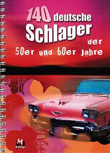Keyboard-Noten-140-deutsche-Schlager-50er-u-60er-Jahre-leichte-Mittelstufe