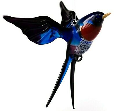 "Bird Brown Figurine Made in Russia Blown Glass /""Murano/"" Art Ornament"