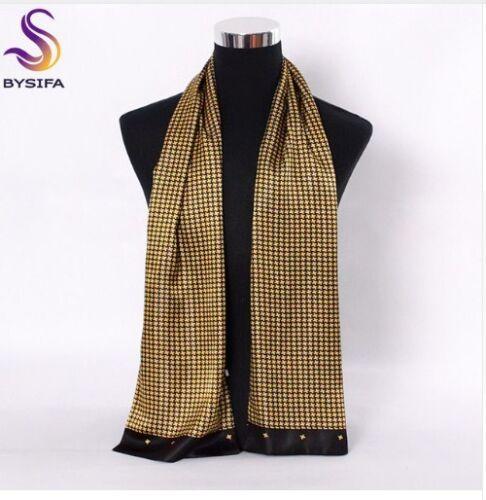 Hommes soie foulards accessoires de mode automne hiver Homme Pure Soie Longue Foulards