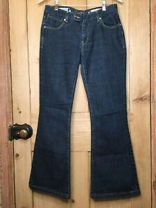 KAREN MILLEN Ladies Dark Blue Boot Cut Low Rise Jeans 30L UK 12 / US 8 / EUR 40
