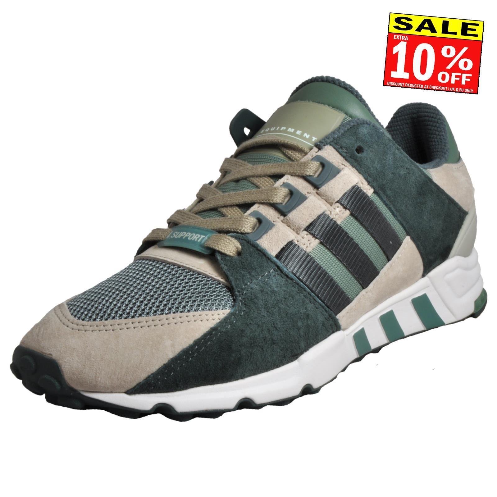 Adidas Originals EQT Support RF Men's Classic Retro Fashion Trainers Green