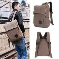 Vintage Herren Tasche Canvas Rucksack Tasche Reisetasche Backpack Schulrucksack