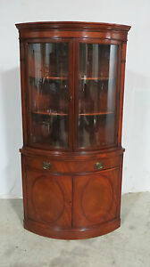 Superieur Image Is Loading Drexel Bowfront Curved Glass China Cabinet Mahogany