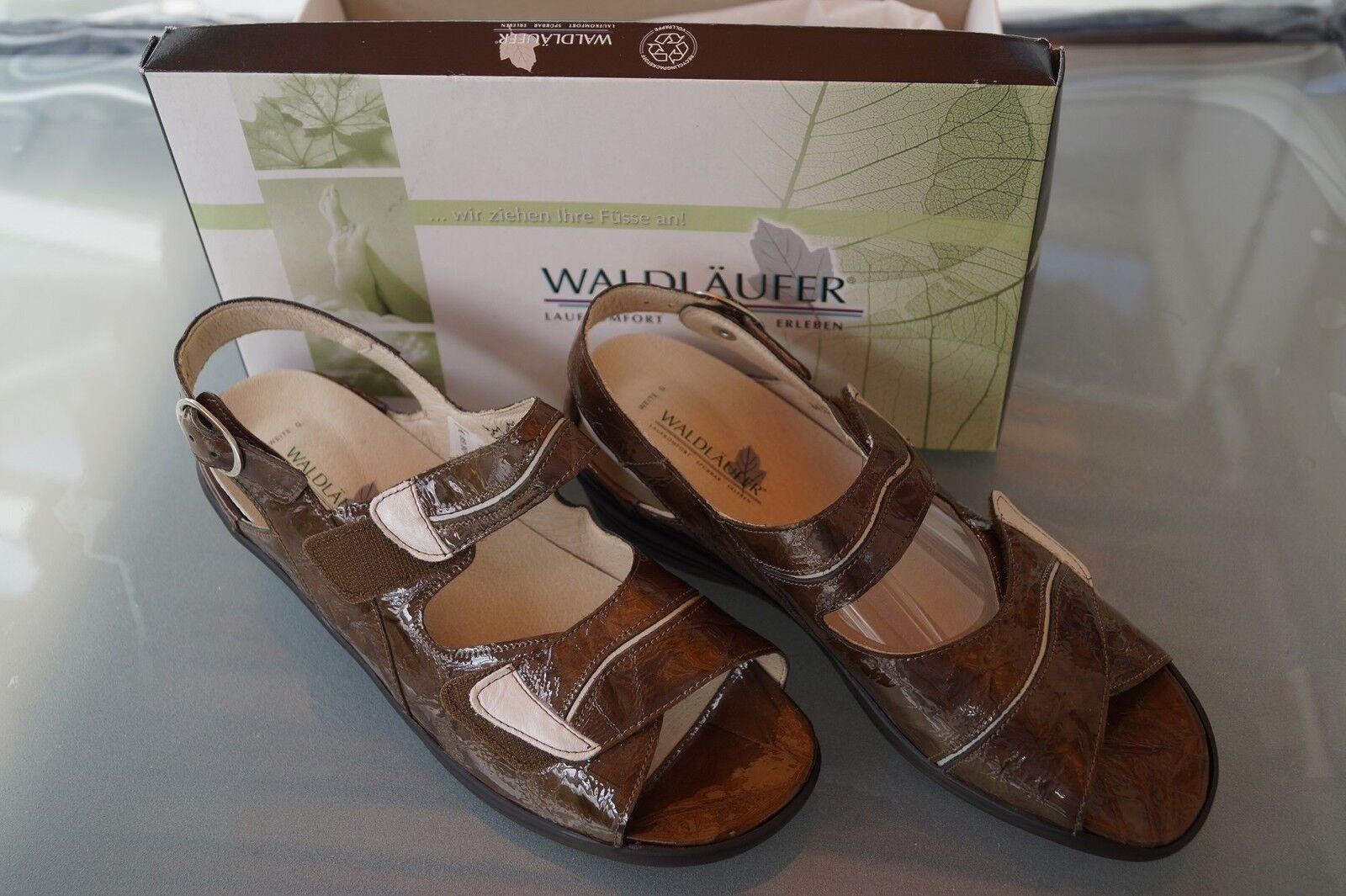 WALDLÄUFER Gilda Damen Sommer Schuhe Comfort Sandale mit Einlagen Gr.4,5 G 37,5