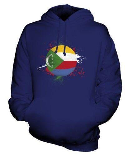 Comores Football Sweat à Capuche Unisexe Haut Cadeau Coupe Du Monde Sport