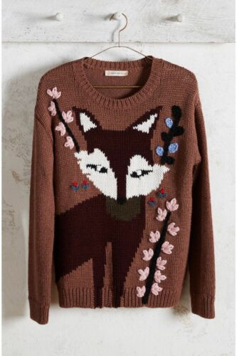 NEW Anthropologie Foxy Intarsia Pullover Sweater by Paul /& Joe Sister SZ XS//S//M