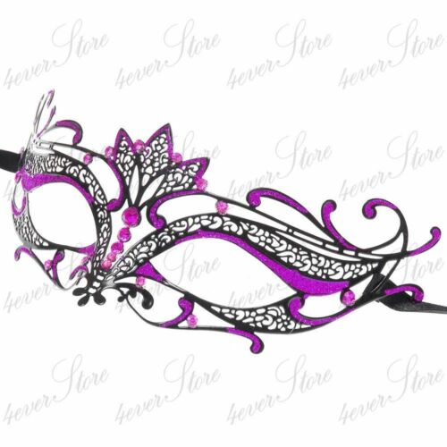 Majestic Collection Venetian Laser Cut Masquerade Mask Made of Light Metal