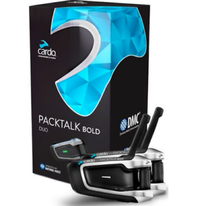 NEW-Cardo-Packtalk-Bold-Duo-Bluetooth-DMC-Motorcycle-intercom-with-JBL-Speakers