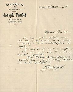 15 Saint-flour Courrier Joseph Paulet Boulanger 1904 Kyttpatj-08010227-882746983