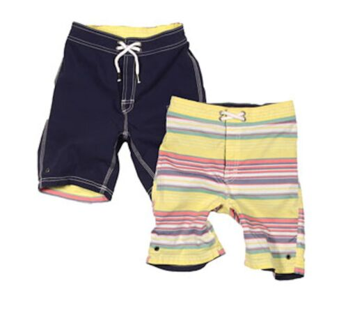 TAILOR VINTAGE Boys Swim Trunks Swimsuit 2 in 1 Reversible Cargo Pockets 2T-10
