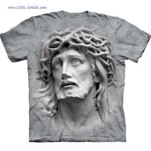 Crown of Thorns Jesus T-Shirt 3D JESUS grey tie dye art tee,Easter