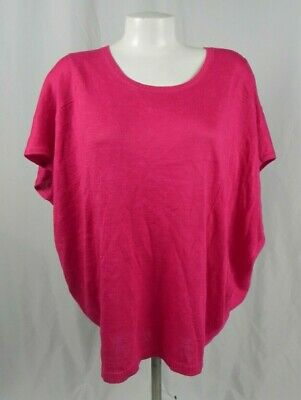 D1-26 NEW Coldwater Creek Pink Spindrift Relaxed Pullover Knit Top