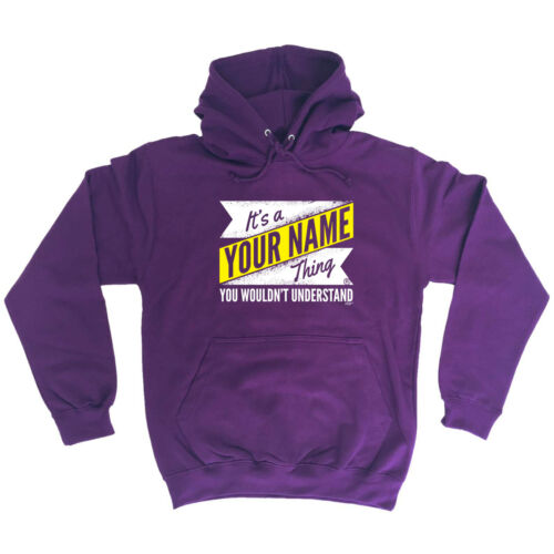 Your Name V2 Surname Thing Funny Novelty Hoodie Hoody hooded Top
