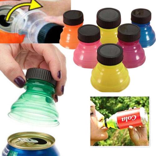 306B 6Pcs Reusable Bottle Snap On Tops Caps For Coke Pop Soda Drink Can Lids