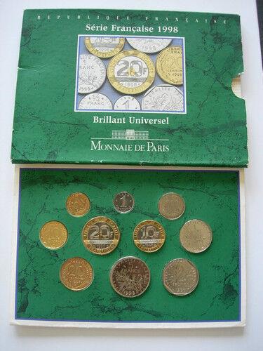 1998 Serie Bu Brillant Universel Monnaie De Paris Fdc Parfait Dans L'ExéCution
