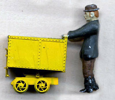 COUSIN JACK  PUSHING A MINE CART O On30 Unpainted Metal Figure GL3092