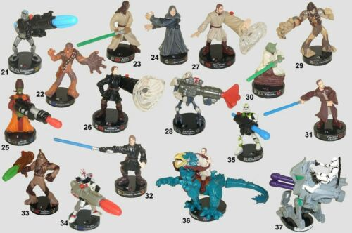 Star Wars Series 1 Attacktix figures 21 thru 37  HASBRO  w//weapons YOU CHOOSE