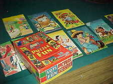 Saalfield 12 Tray Jigsaw Puzzles 1952 USA Exc Condition  12 OF 16 PUZZLES THERE