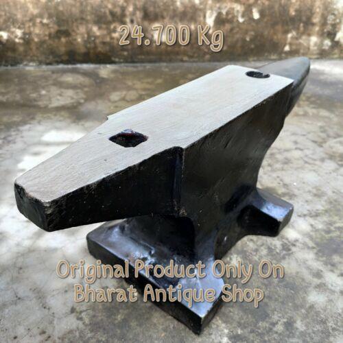 Antique Style Black Very Heavy Iron Anvil BlackSmith Making Tool 54 lbs