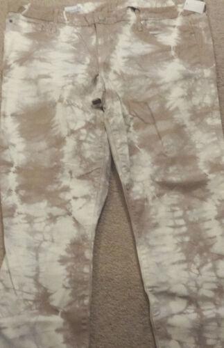 1969 dye Nwt Gap Tan Always Womens tie Denim crème taille Jeans 18 Skinny 34 EZRZvxwqn