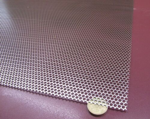 """Perforated Staggered Steel Sheet .036/"""" Thick x 24/"""" x 24/"""" .156/"""" Hole Dia."""