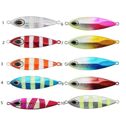 10 pcs Mixed color metal jig lure glow in dark 40g60g80g100g120g