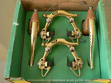NOS NEW NIB rare MAFAC 2001 GOLD brakes and levers Merckx, Peugeot,mercier ecc