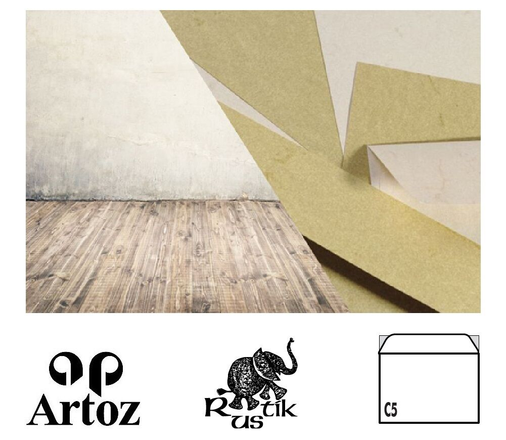 50 Artoz Papier Rustik KuGrüns DIN C5 110g Farben Briefumschläge   Großartig