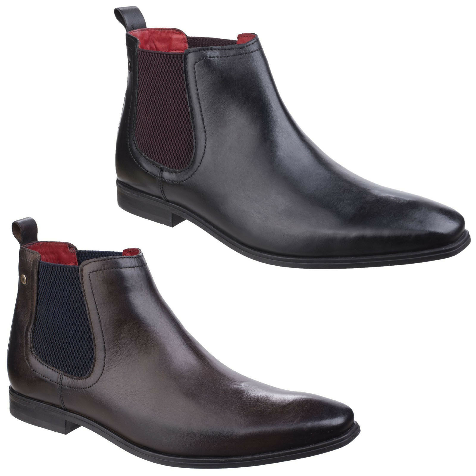 Base Pull London William Leather Burnished Waxy Pull Base On Chelsea botas Hombre b12154