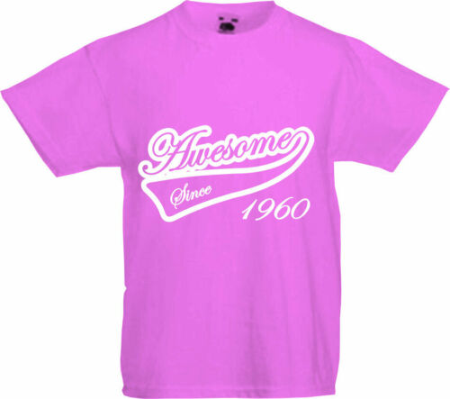 Gift AWESOME SINCE 1960-60th Birthday T-Shirt Premium Quality 2020