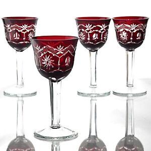 Weingläser Rot 4 vintage weingläser rot römer kristall rubinglas rote gläser