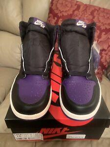 94c9ce07684d Nike Men s Air Jordan 1 Retro High OG Court Purple - Size 10 ...
