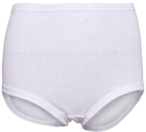 Onorevoli BIANCO 100/% cotone slip occhielli RIB Gamba con cigno bianco