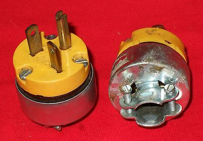 10 Pk Leviton 20A 250V 3-Wire 2-Pole 6-20P Electric Cord Plug 010-620PV-000