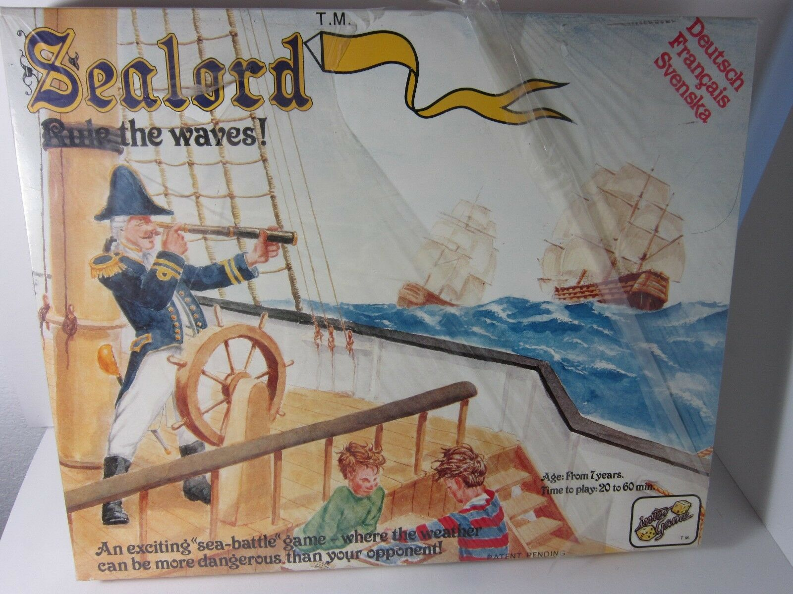 SeaLord Rule The Waves Vintage  Bored Game 1 st  Edition  by inter 1980