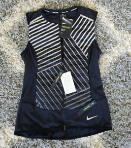 Rare Nike Running Jacket Women's Black Black Reflect Silver